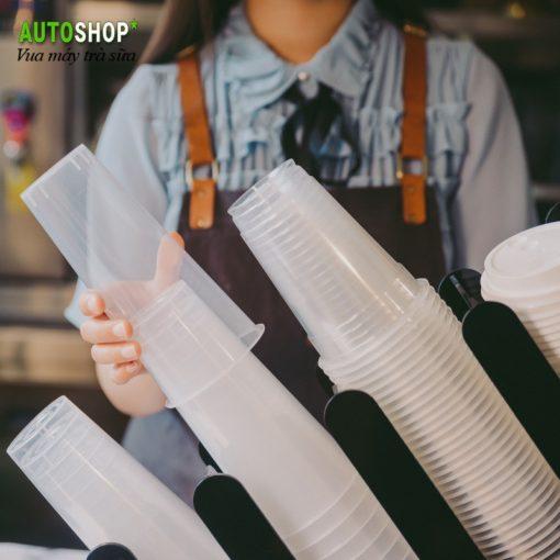 Giá để cốc nhựa trà sữa 2