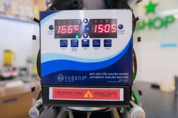 Máy dập nắp cốc, máy dán miệng ly Yubann YB - 88A
