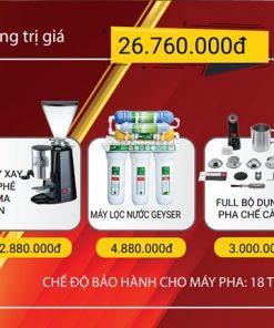 Combo máy pha cà phê casadio undici a1