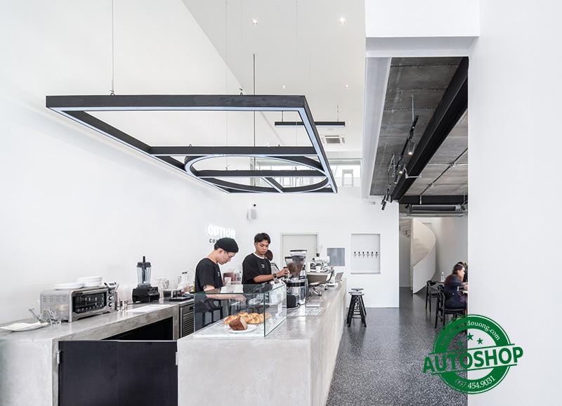 Quầy pha chế cafe inox