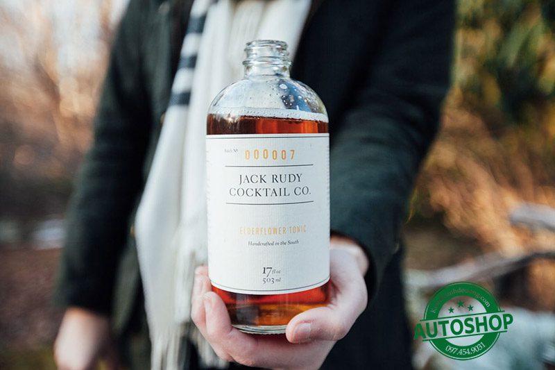 Siro cocktail Jack Rudy Elderflower Tonic