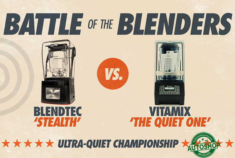 So sánh Vitamix QUiet và Blendtec Stealth
