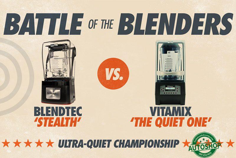 So sánh Vitamix QUiet và Blendtec Stealth
