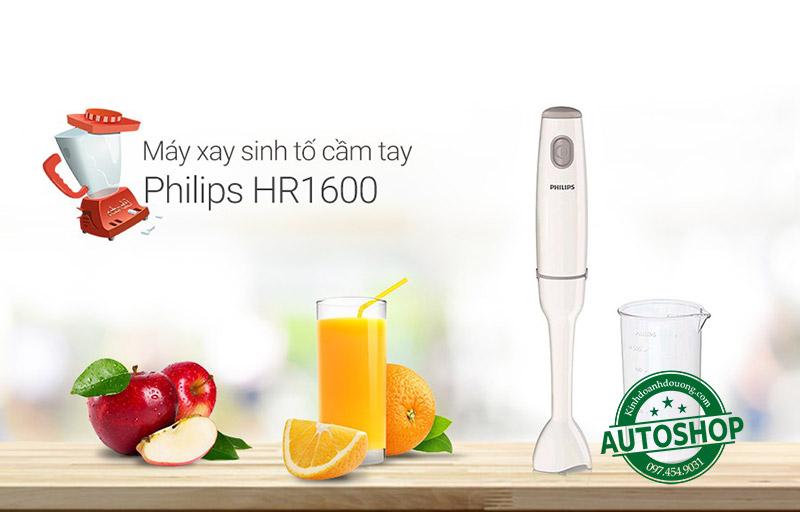 2 Máy Xay Cầm Tay Philips Hr1600