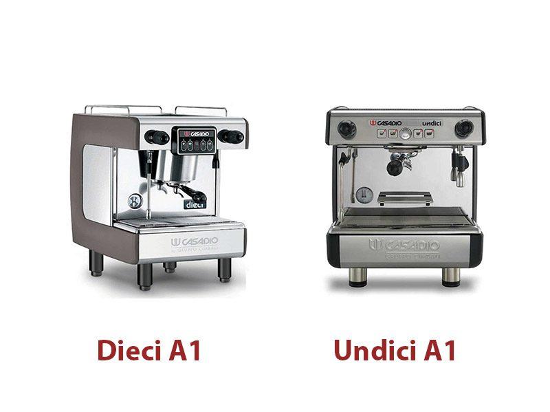 So-sánh-máy-pha-cà-phê-Casadio-Undici-A1-vs-Dieci-A1